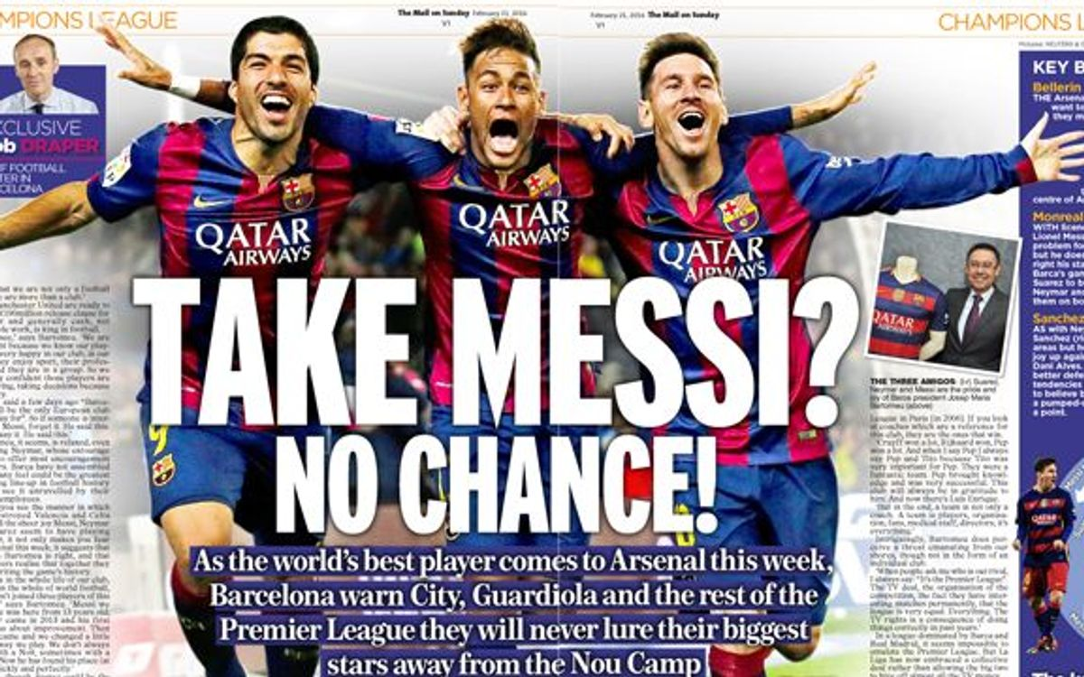 Josep Maria Bartomeu explains to the Daily Mail why players are attracted to FC Barcelona