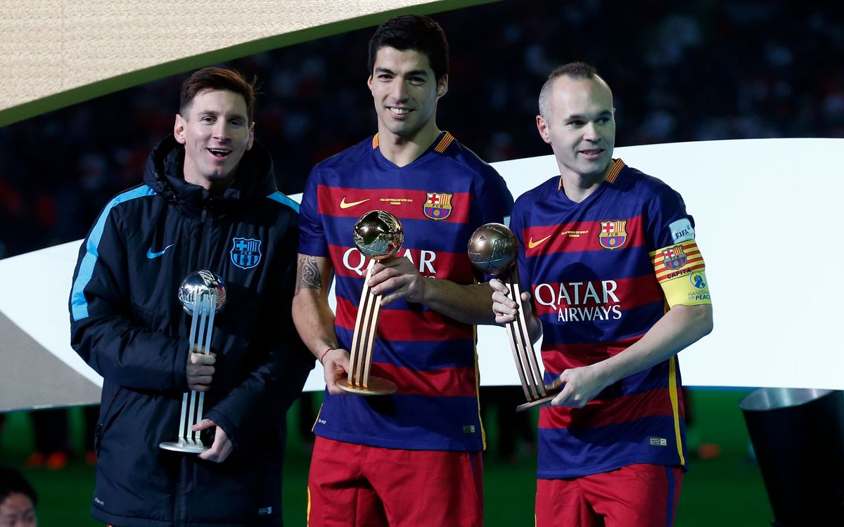 Iniesta, Messi and Suárez make Club World Cup podium