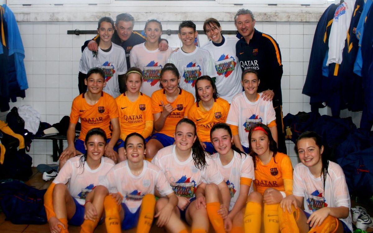 L'Infantil-Aleví guanya la primera Lliga de la temporada al planter