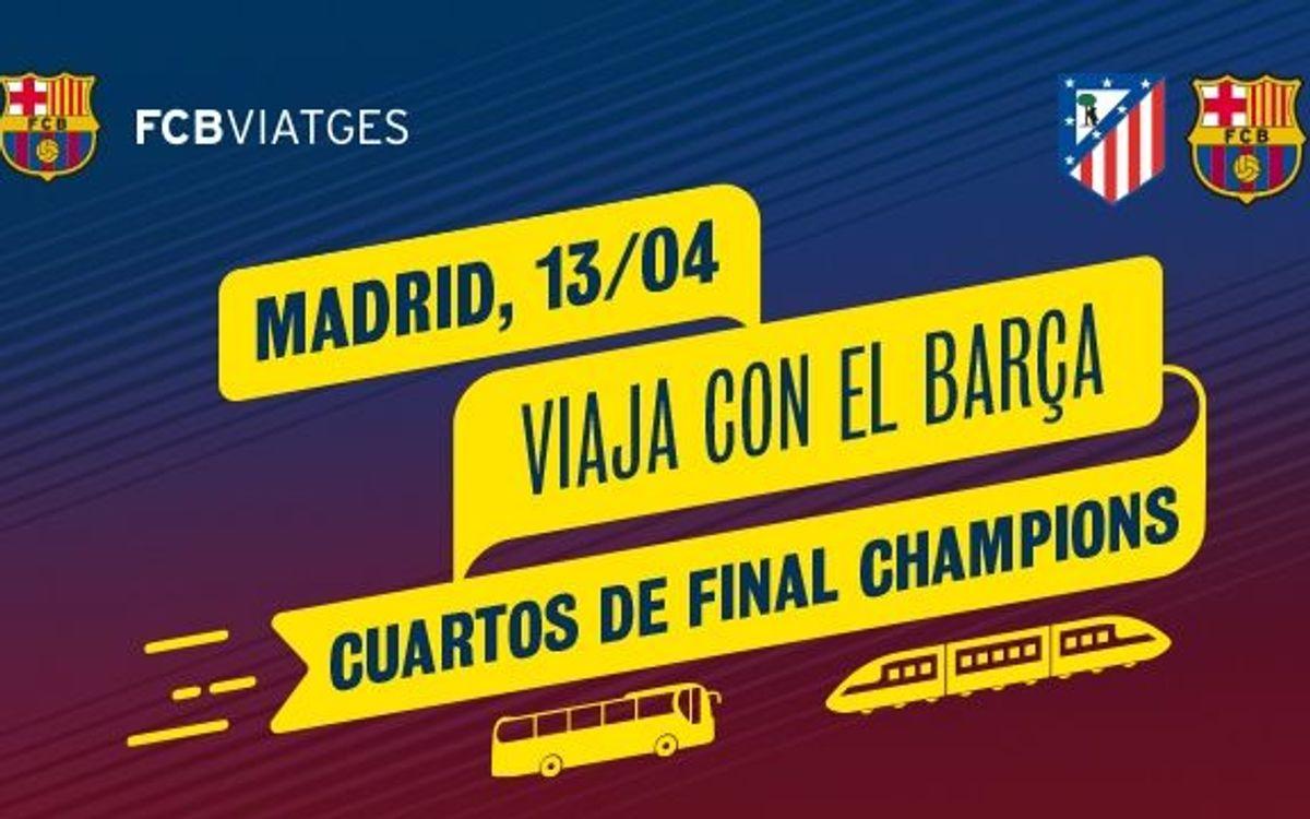 Opciones a los socios para viajar al Vicente Calderón en autocar y tren