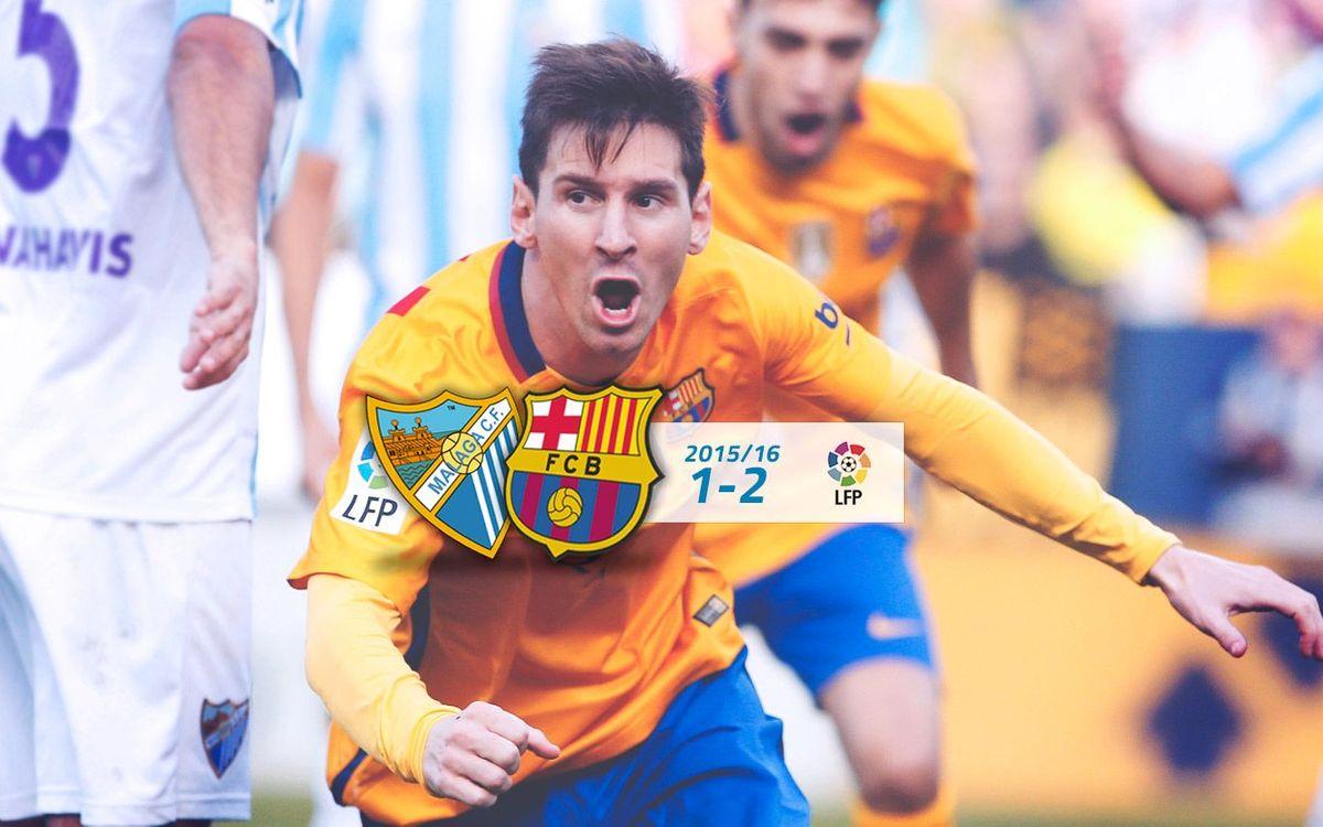 Málaga: 1 - FC Barcelona: 2
