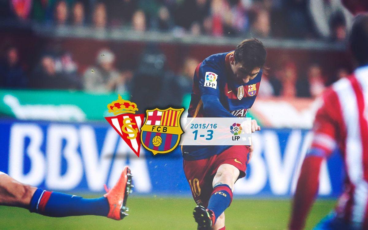 Sporting de Gijón: 1 - FC Barcelona: 3