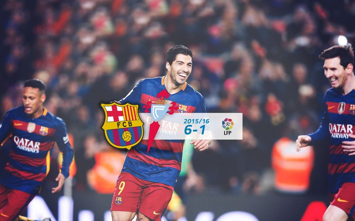 FC Barcelona: 6 - Celta: 1