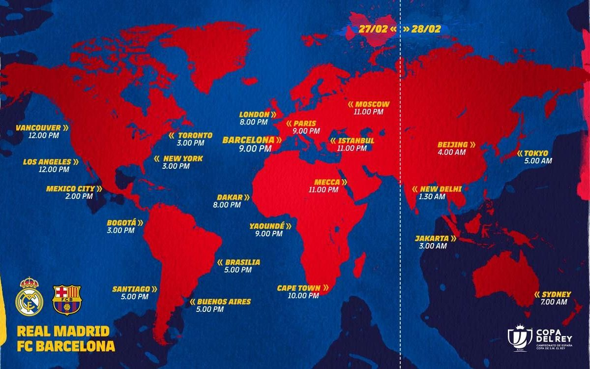TV Coverage and Kick off times around the world