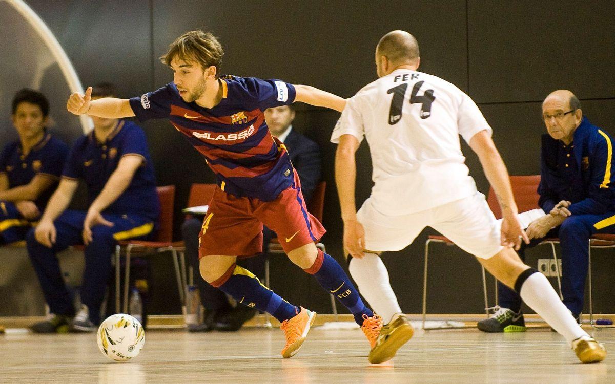 Barça Lassa B 3 – FSD Puertollano 3. Empat a l'últim segon