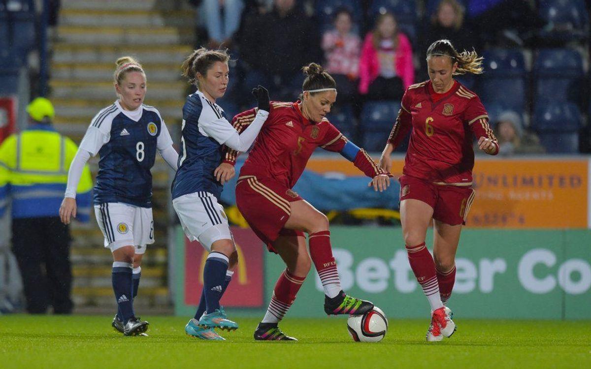 Segon empat d'Espanya, amb cinc culers (1-1)