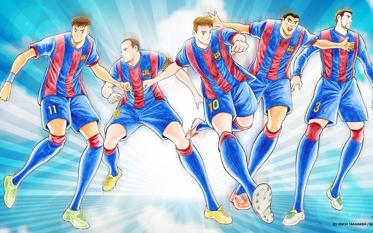 El dibujante Yoichi Takahashi, con el Barça