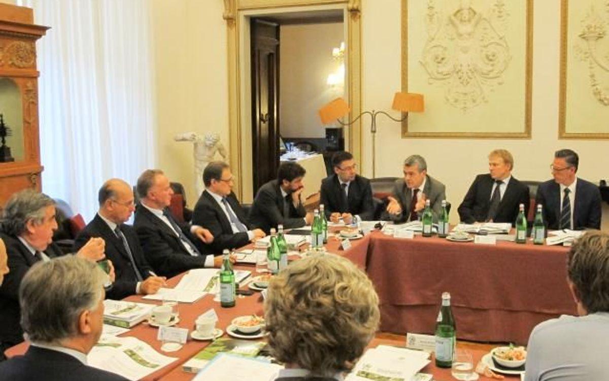 Josep Maria Bartomeu, a l'executiva de l'ECA a Florència
