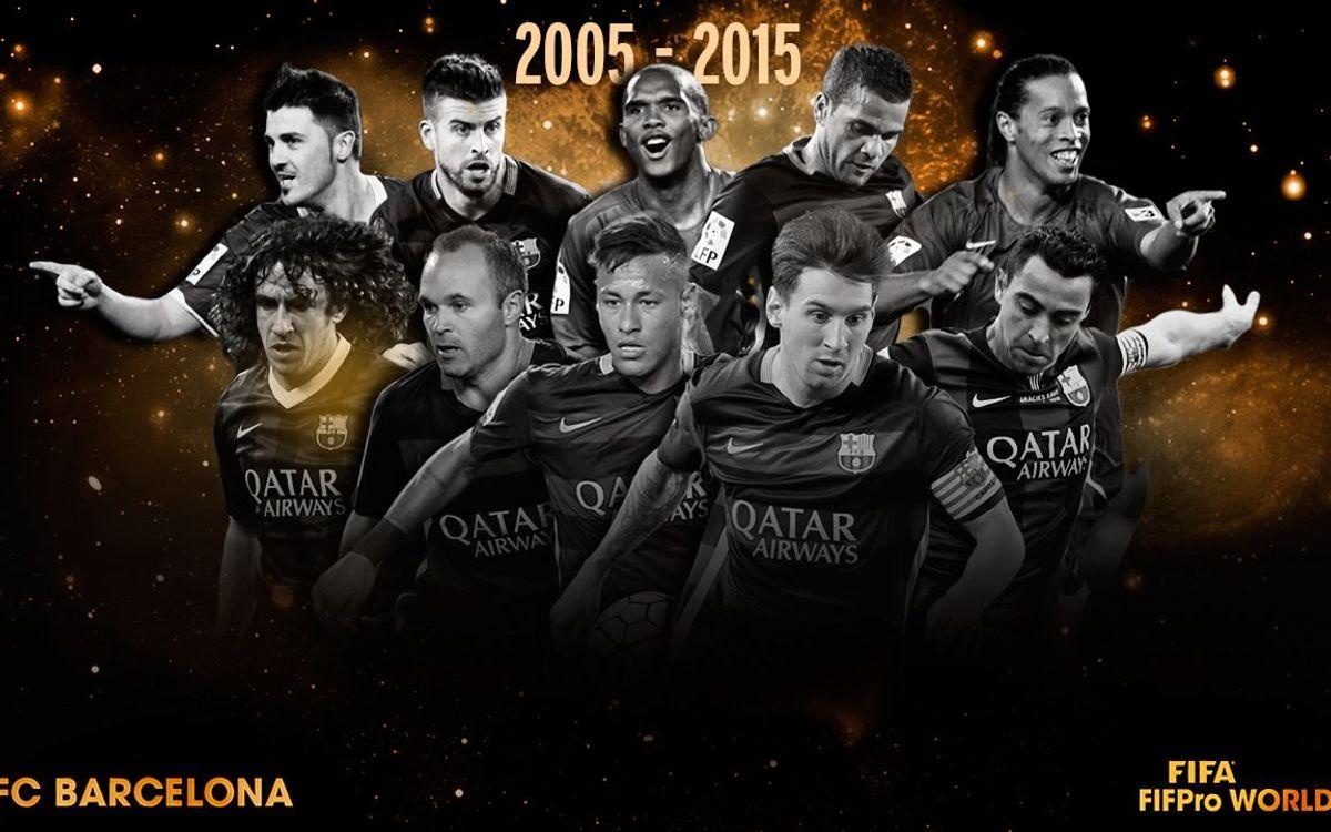 FC Barcelona ever-present in FIFA/FIFPro World XI
