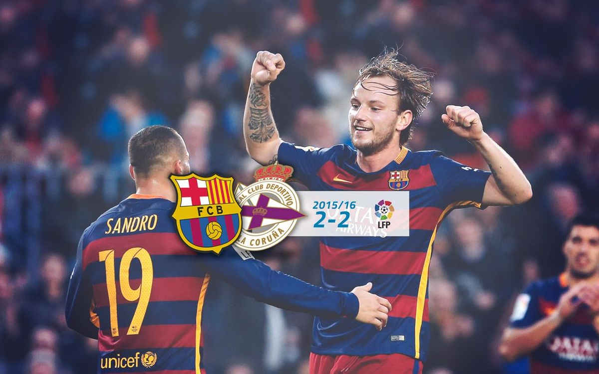 FC Barcelona: 2 - Deportivo: 2