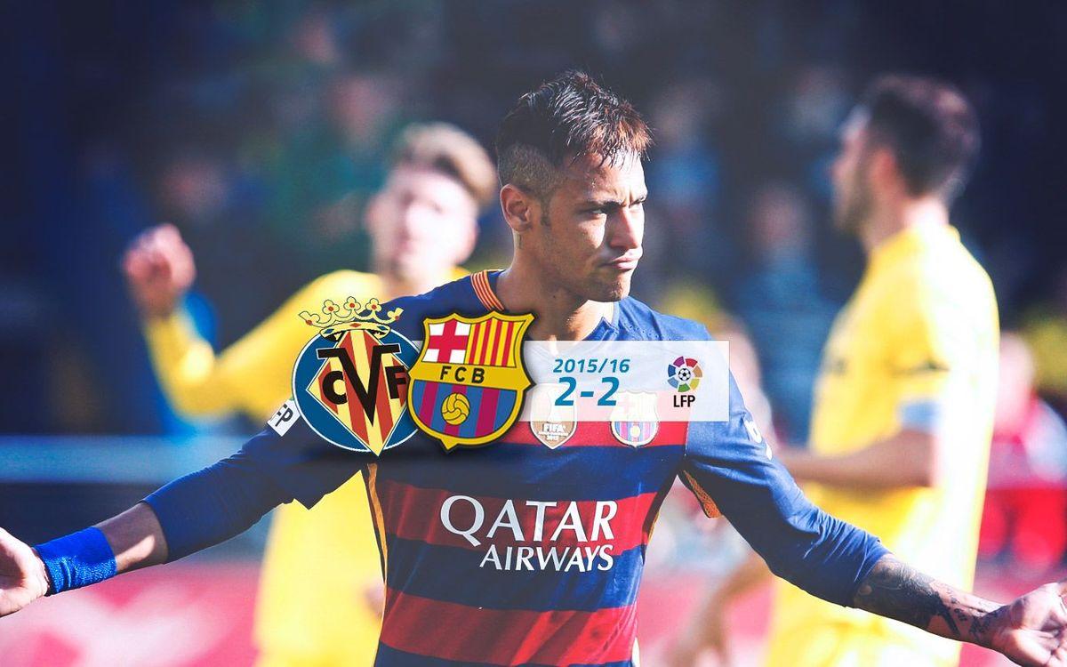 Vila-real: 2 -FC Barcelona: 2