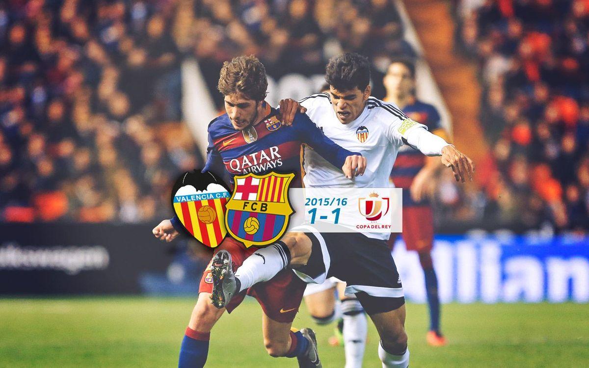 València CF: 1 - FC Barcelona: 1
