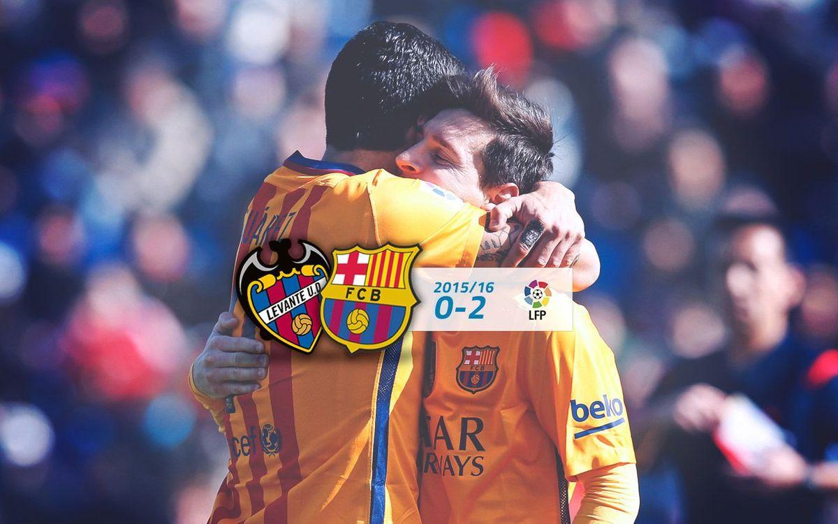 Levante: 0 - FC Barcelona: 2