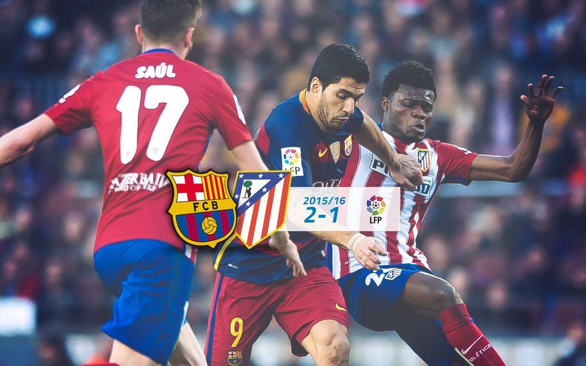 FC Barcelona: 2 - Atl. de Madrid: 1