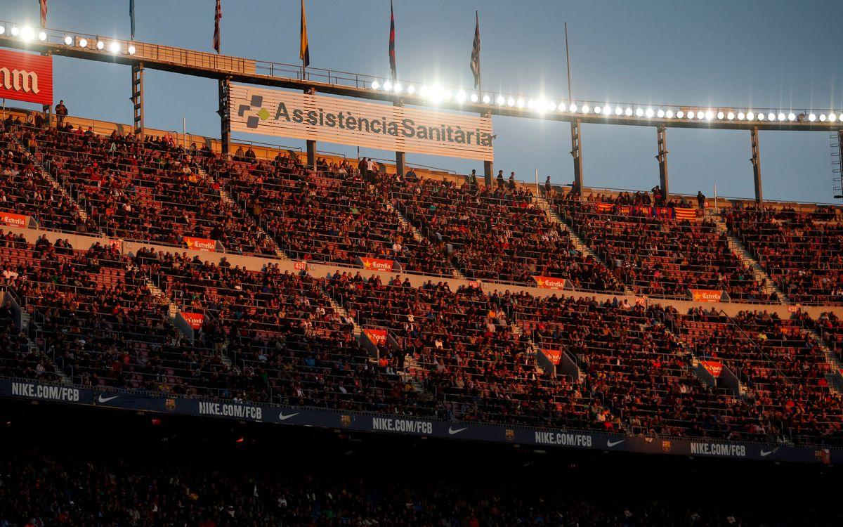 Mesures de seguretat al Camp Nou per al partit davant el CF Villanovense