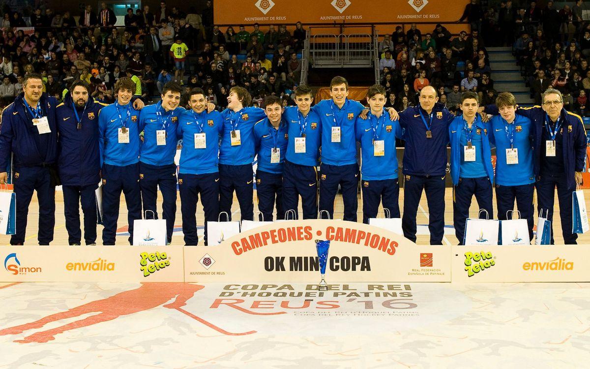 El Barça Infantil, campió de la Minicopa d'hoquei patins