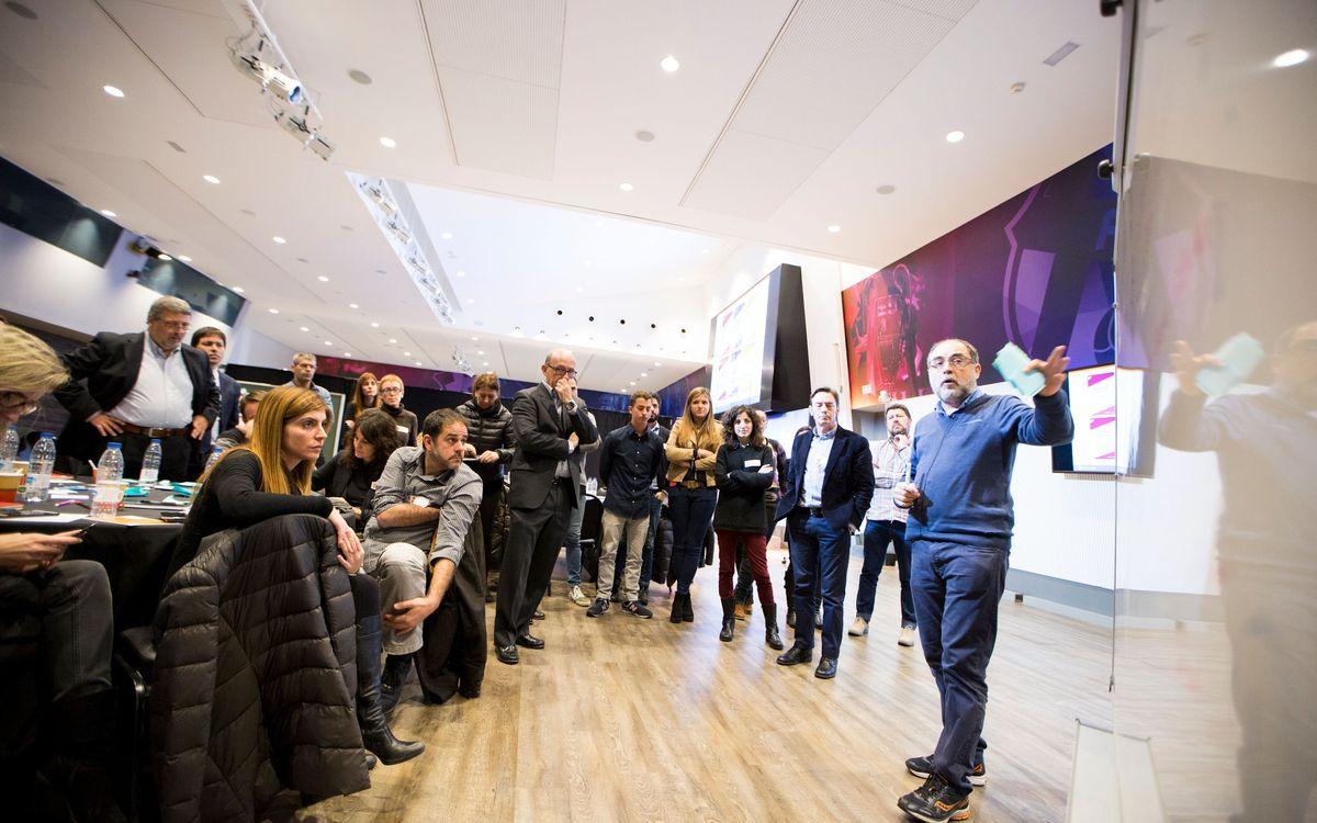 El FC Barcelona celebra el primer taller de creación con empleados