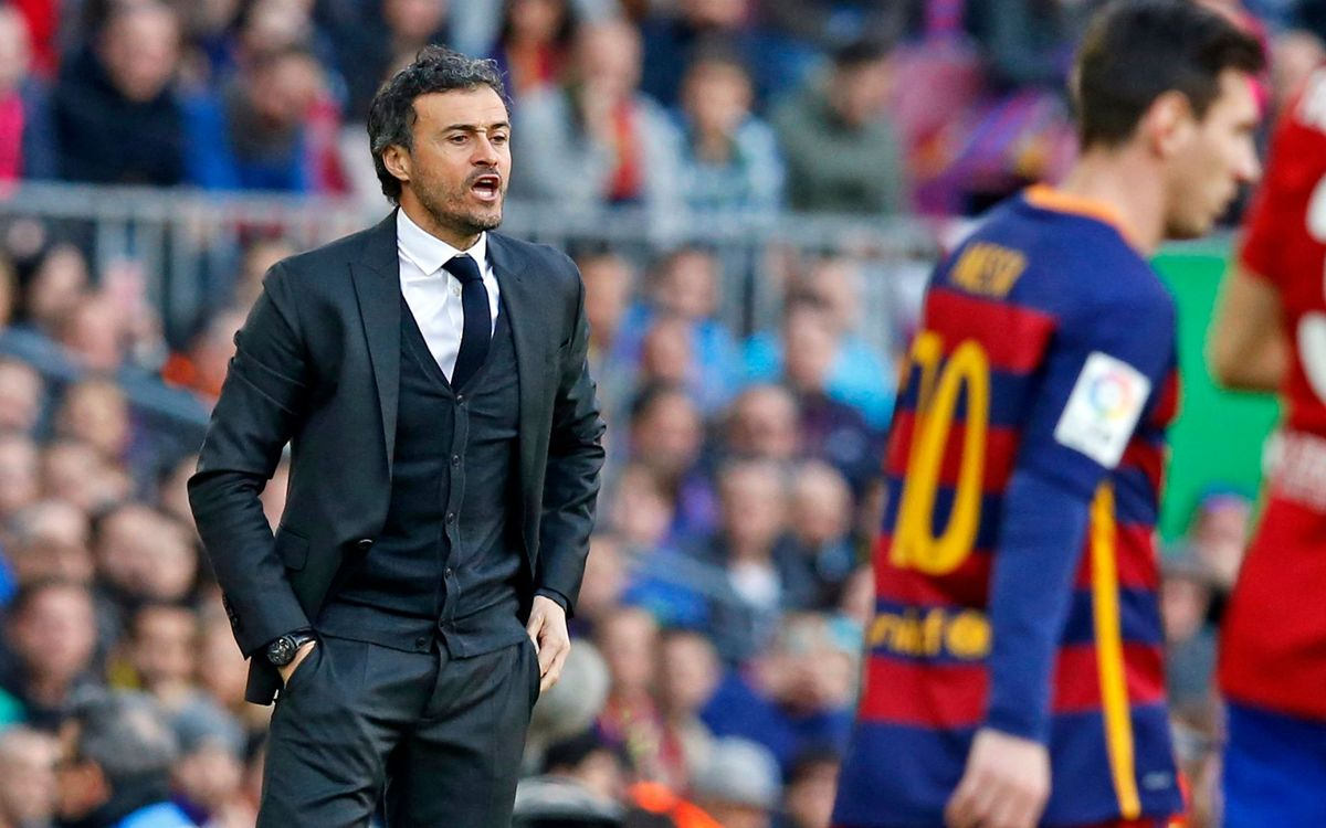 Luis Enrique six for six against Diego Simeone