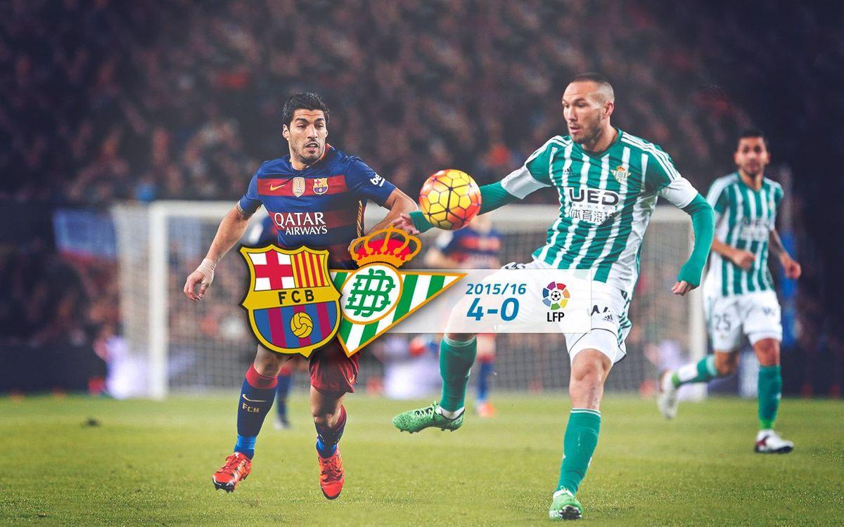 FC Barcelona: 4 - Real Betis: 0