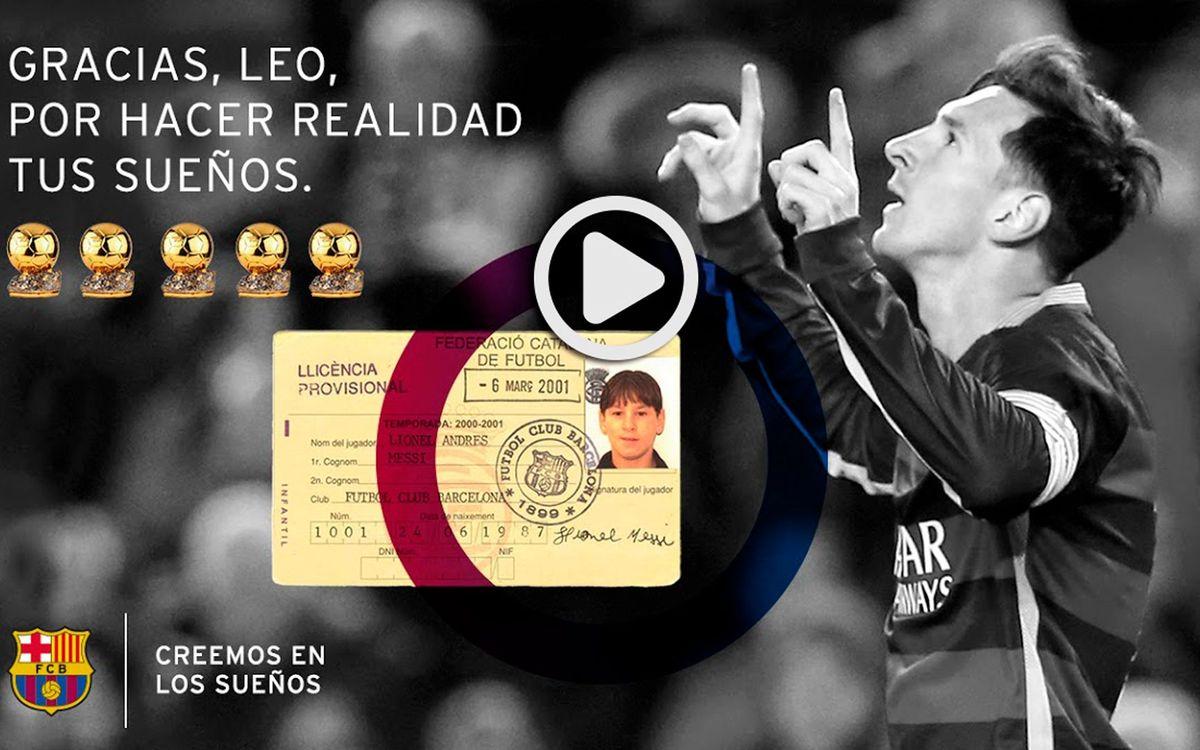 El quinto Balón de Oro de Messi: Creemos en los sueños