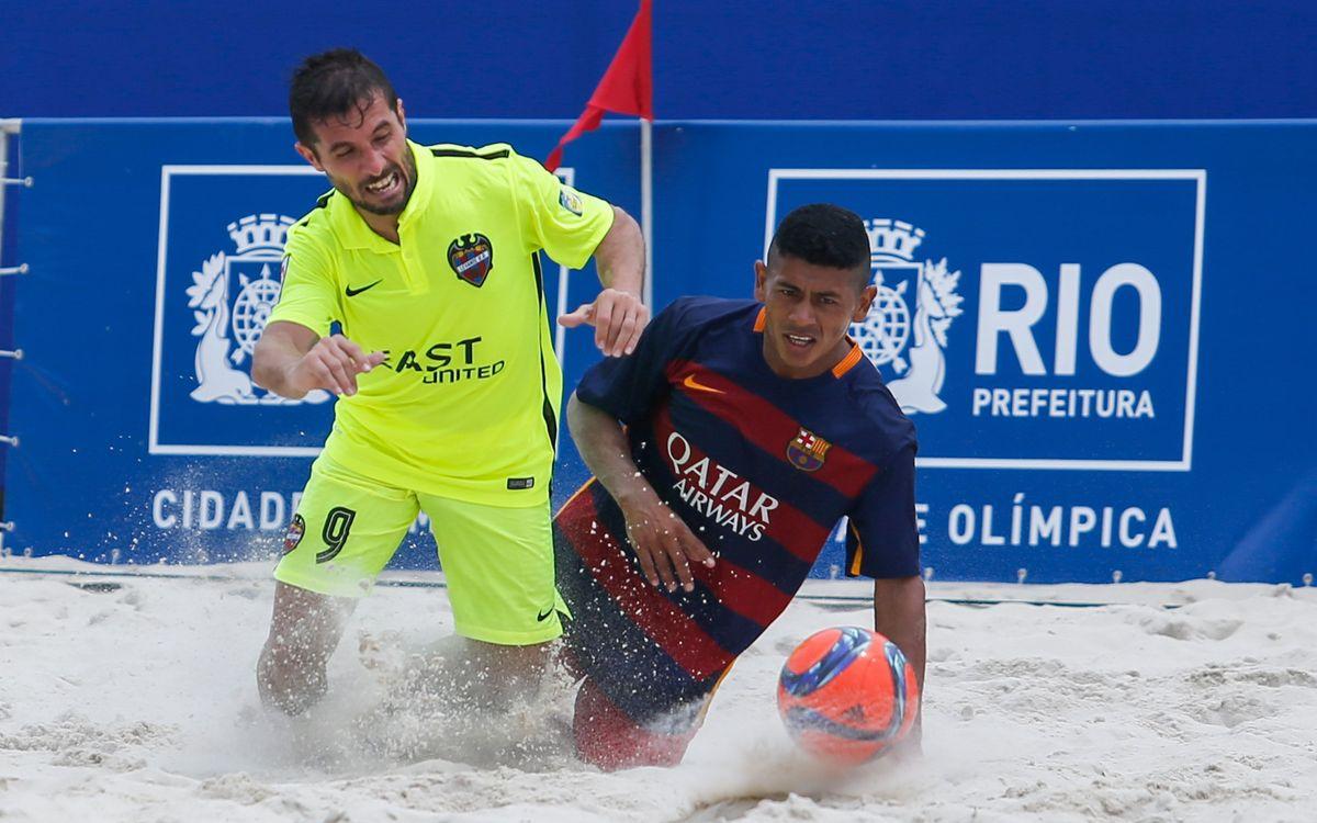 El FC Barcelona debuta con victoria en el Mundial de Clubes de fútbol playa