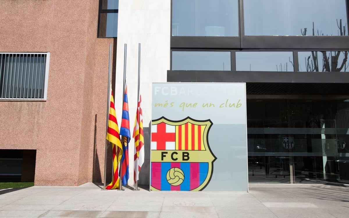 El FC Barcelona habilita un espacio de condolencias en el Camp Nou
