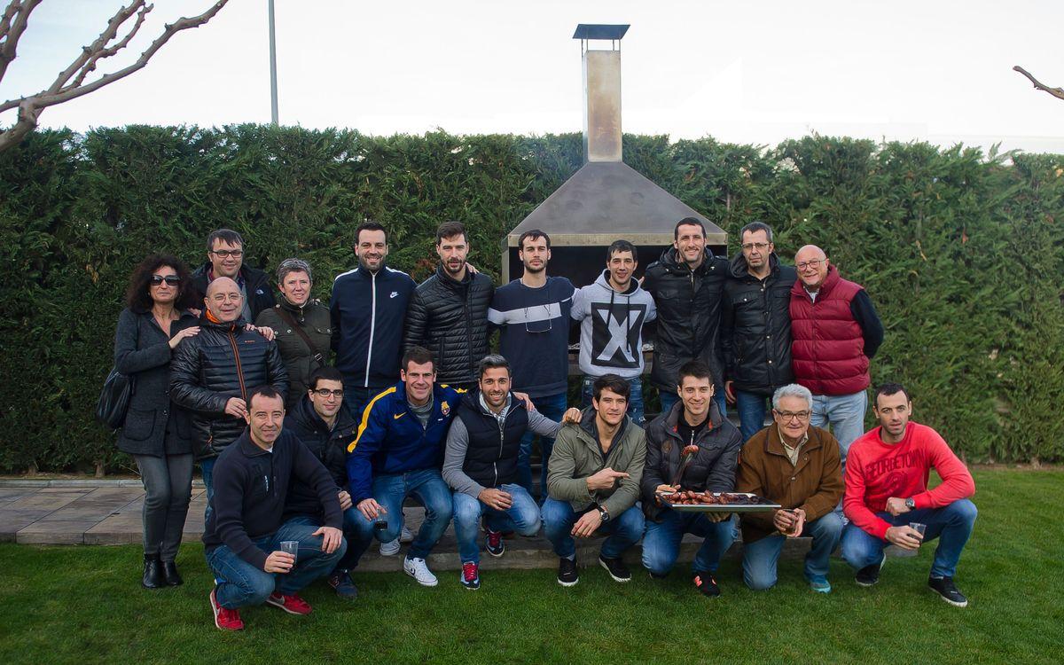 El Barça Lassa d'hoquei patins celebra el dinar de Nadal