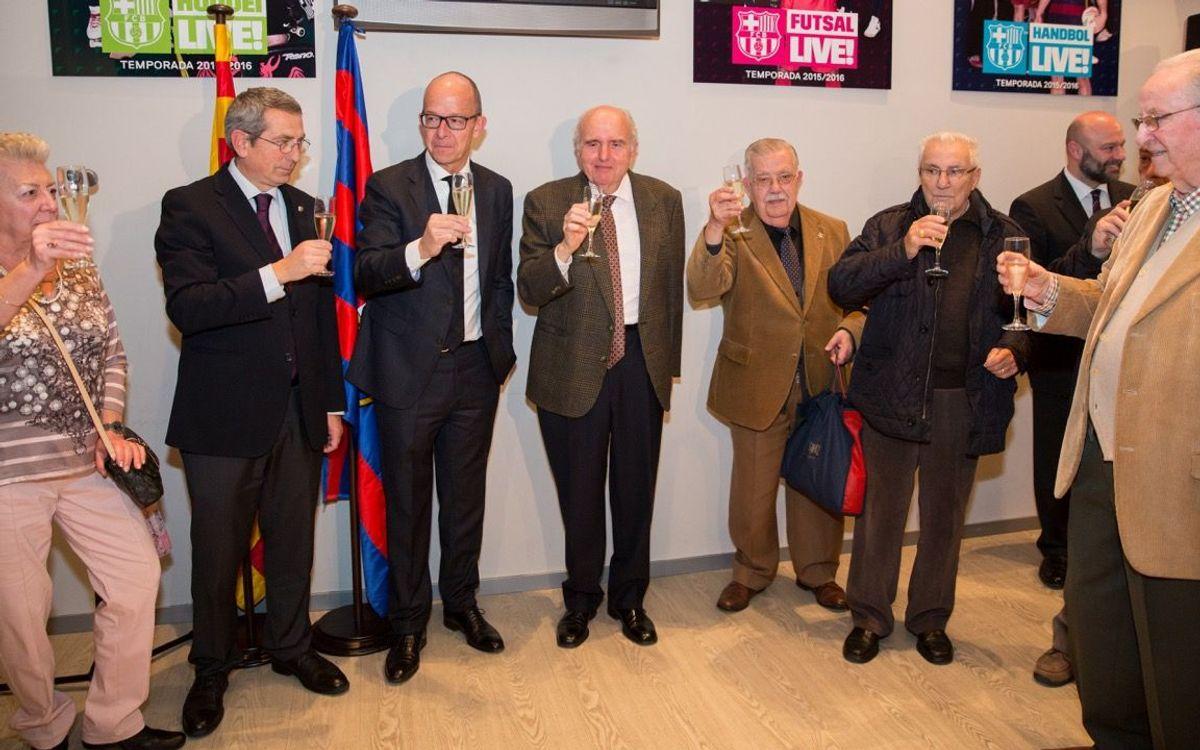Encuentro de Jordi Cardoner con el Casal de l'Avi Barça