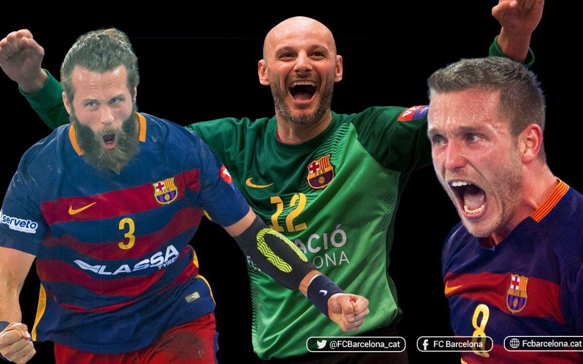 Los capitanes del Barça Lassa hablan del derbi