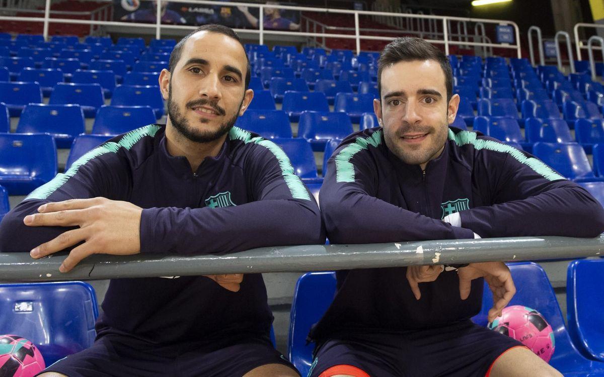 Boyis y Dídac a punto de jugar contra Jaén - VICTOR SALGADO