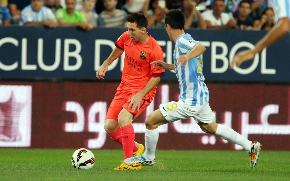 El Màlaga CF - FC Barcelona, el 23 de gener a les 16 hores