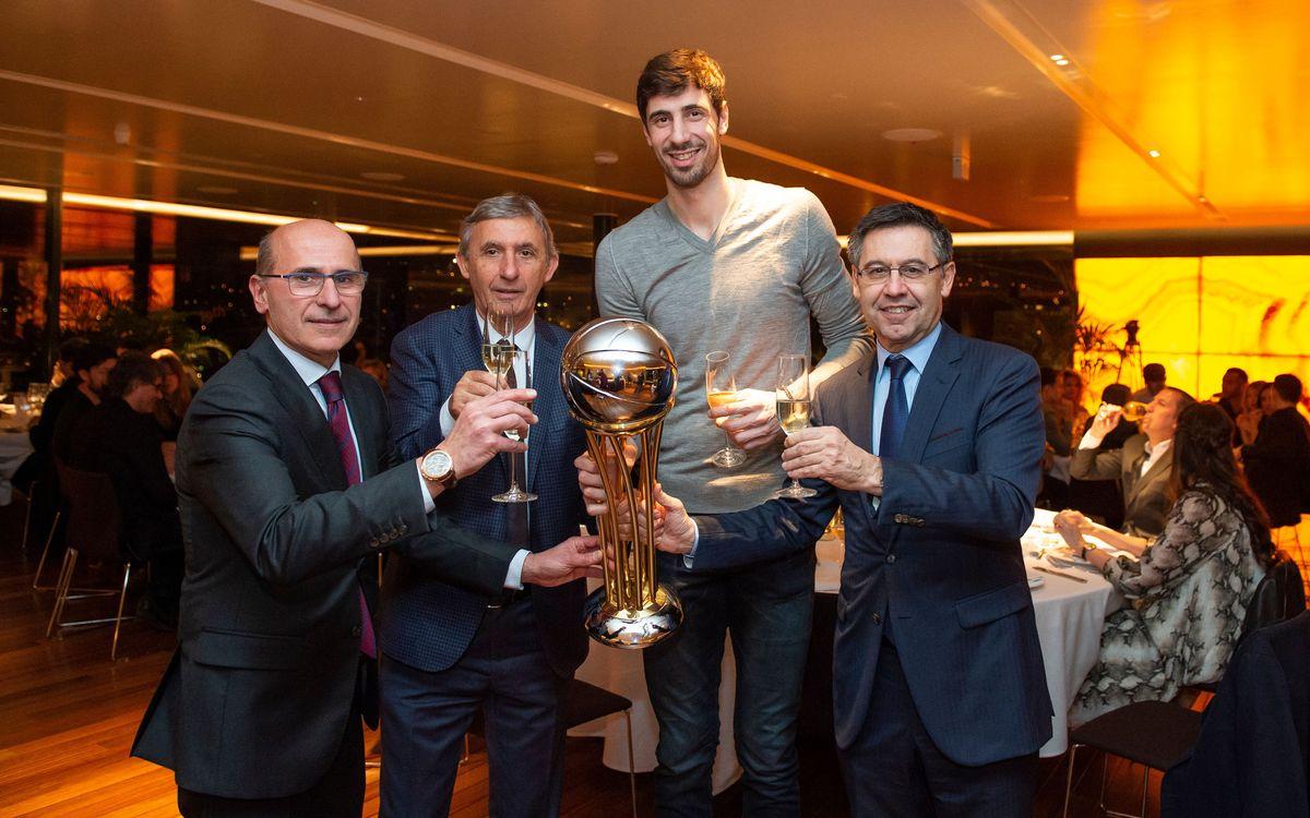 El baloncesto celebra la Copa del Rey con una cena de hermandad