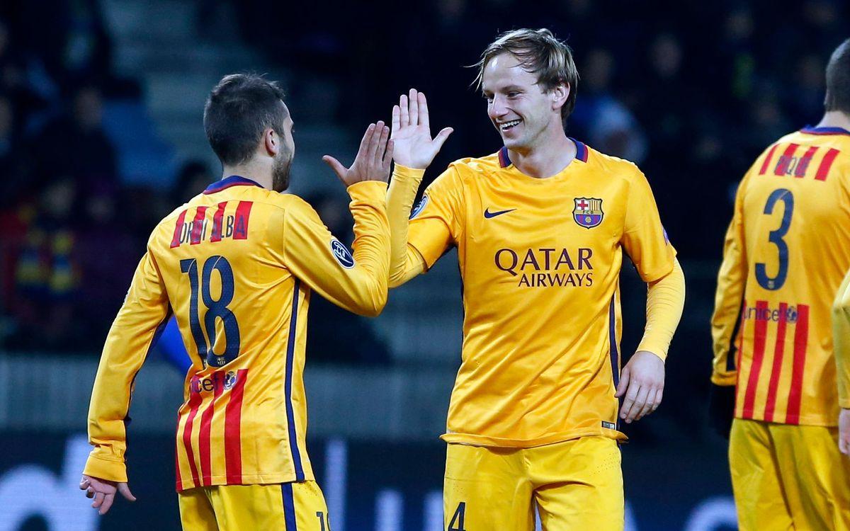 BATE Boríssov – FC Barcelona: Rakitic decideix a Bielorússia (0-2)