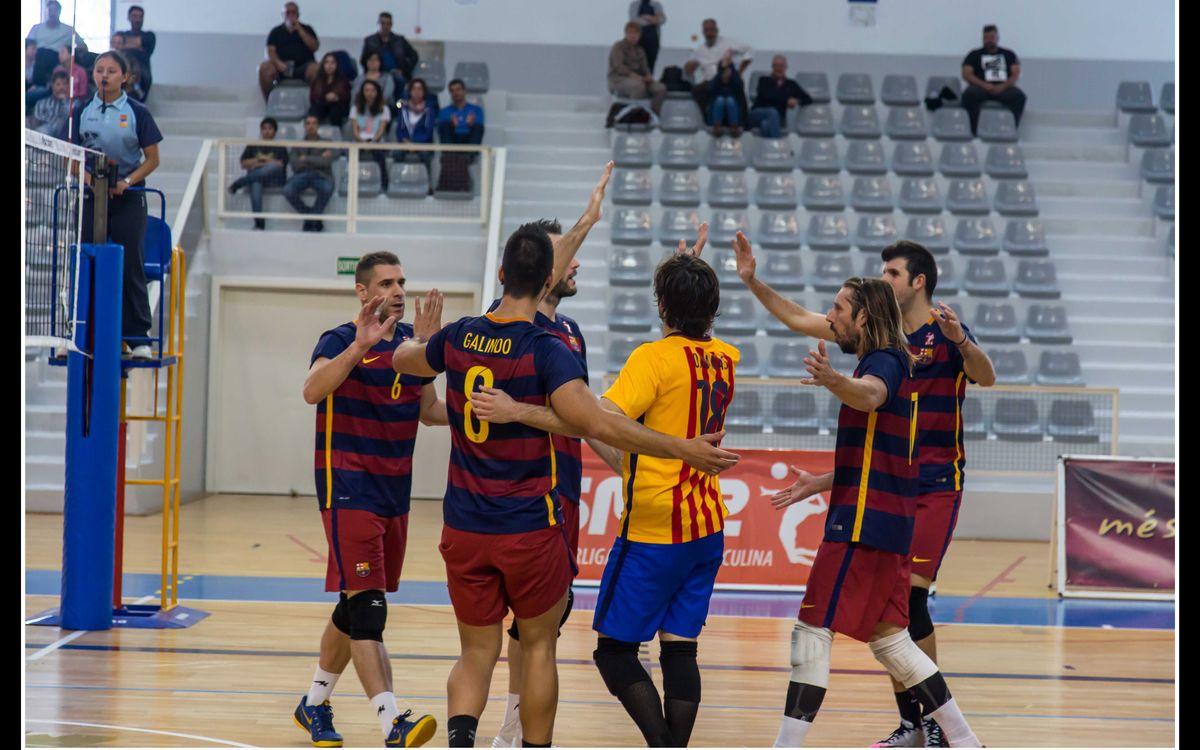Victòria contundent contra el Leganés del Barça de Voleibol (3-0)