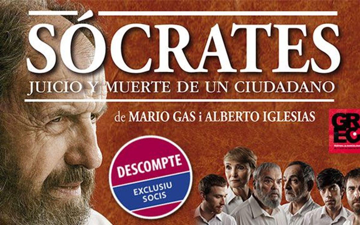 'Sòcrates' al Teatre Romea amb descompte exclusiu per a socis del FC Barcelona