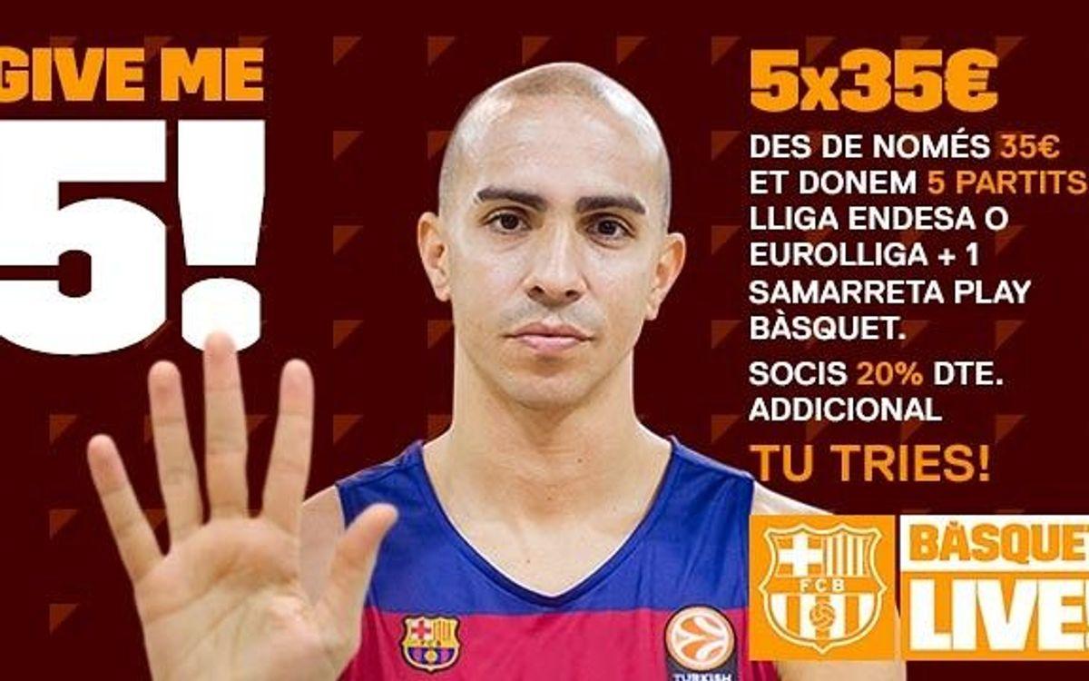 Cinc partits per només 35 euros