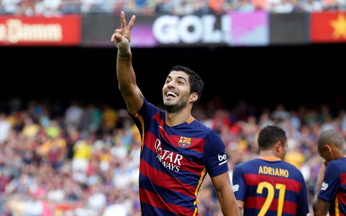Six braces and one hat-trick for Luis Suárez in 52 games