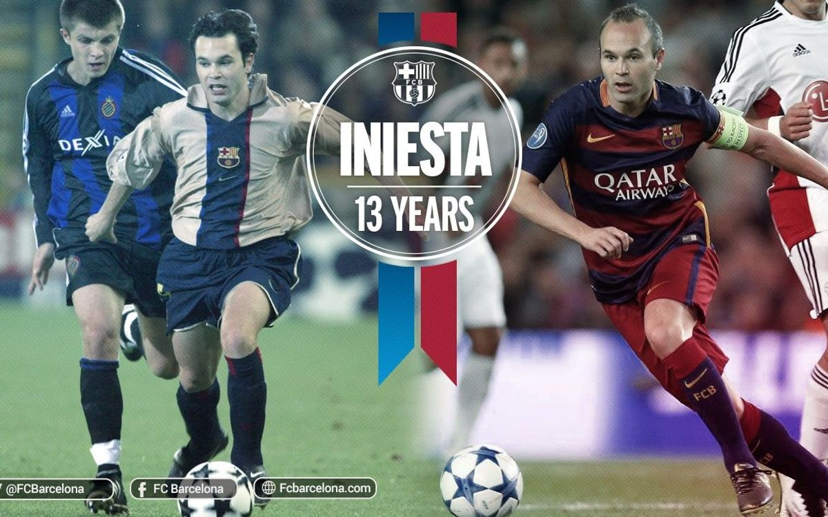 13 years since Andrés Iniesta's debut in Bruges