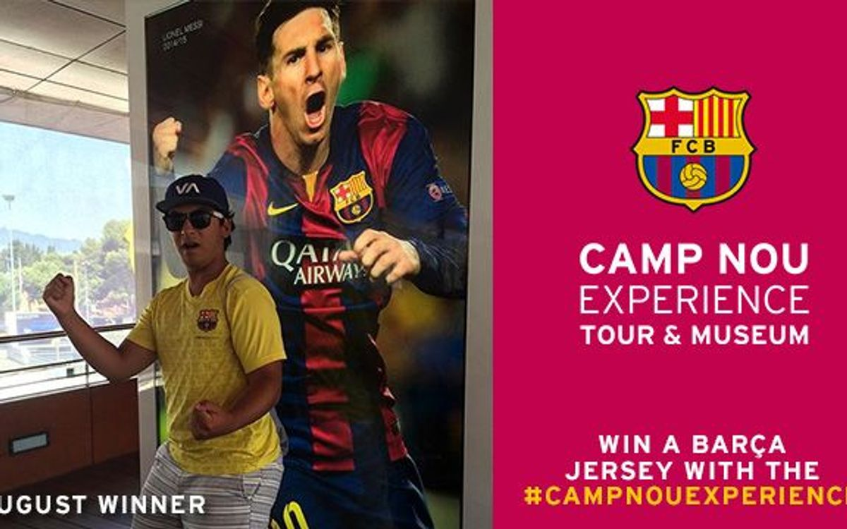 Camp Nou Experience competition has a winner