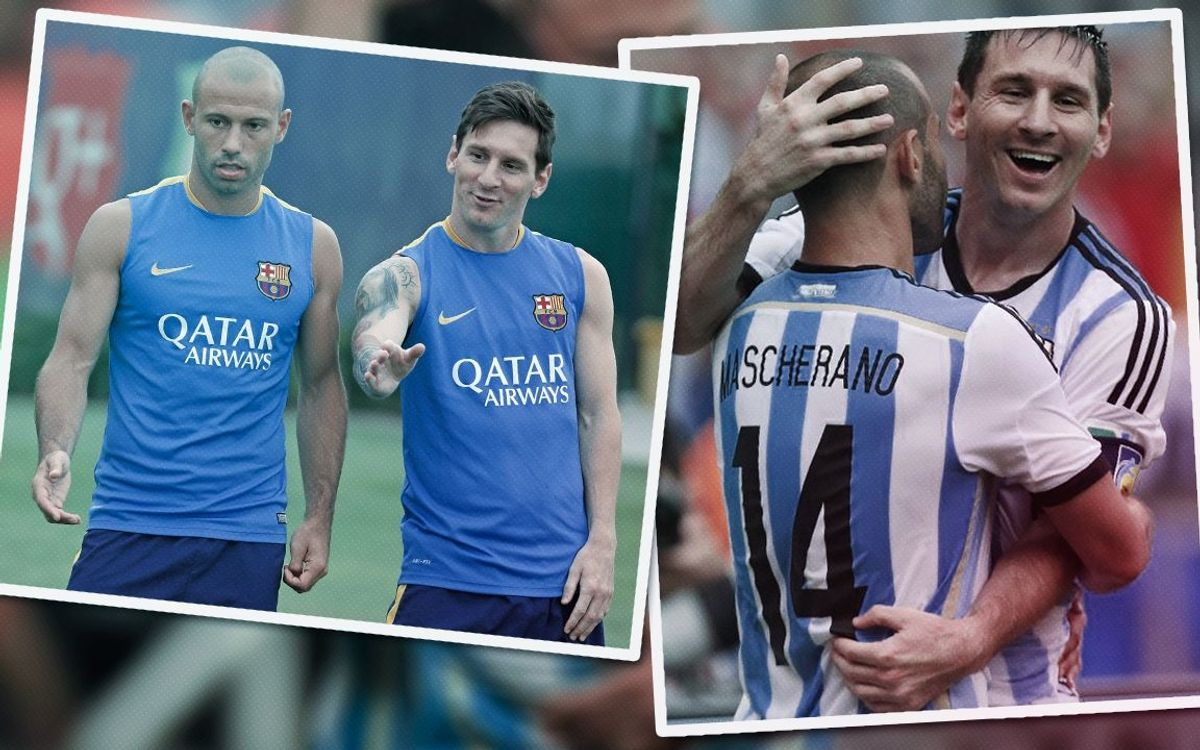 Leo Messi and Javier Mascherano: 10 years together
