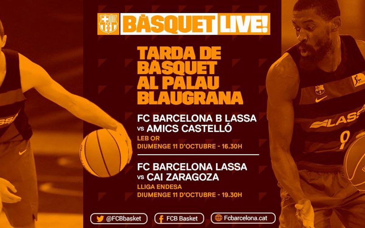 Tarda de bàsquet al Palau Blaugrana