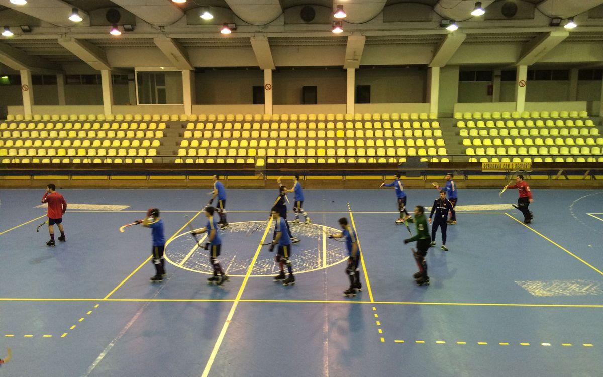Sessió d'entrenament del Barça Lassa al Pavilhao Fânzeres