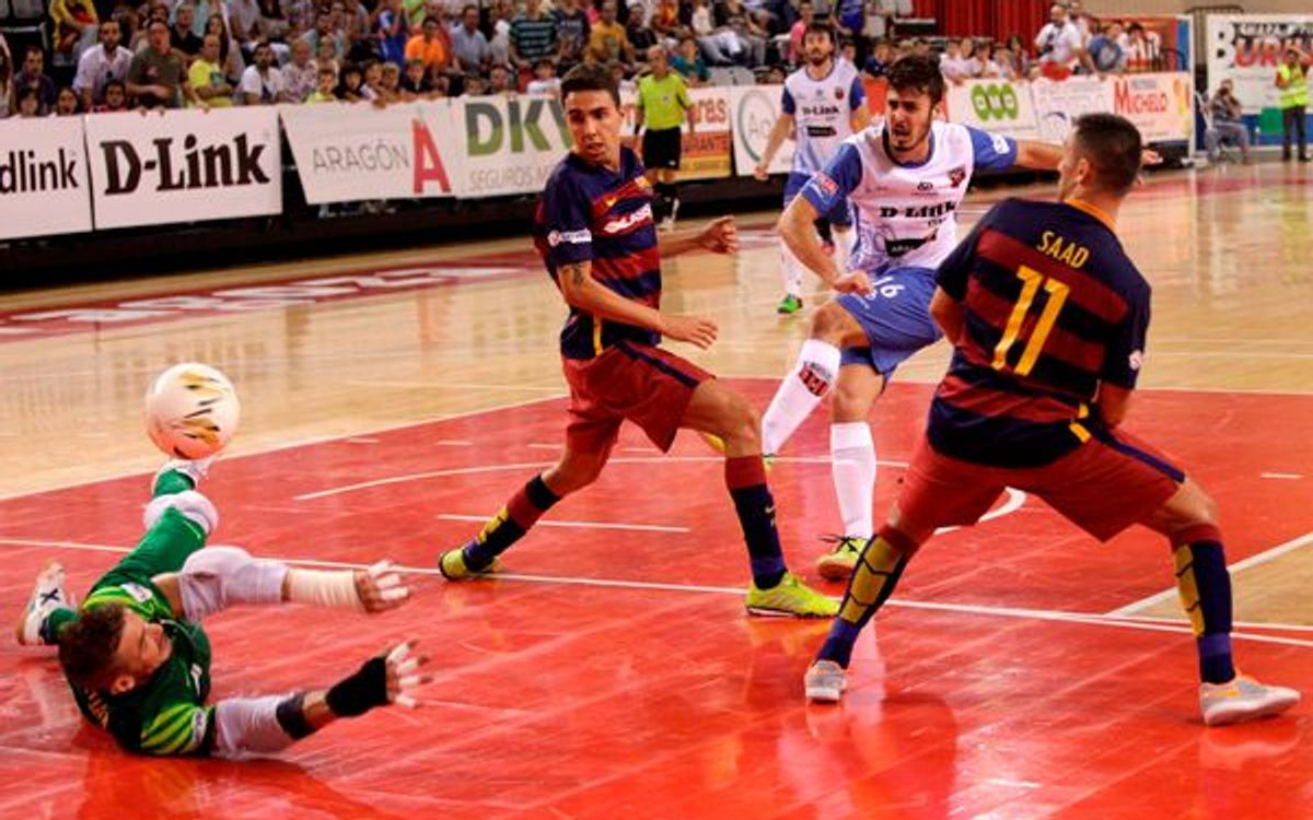 D-Link Zaragoza – FC Barcelona Lassa: first three points (5-6)