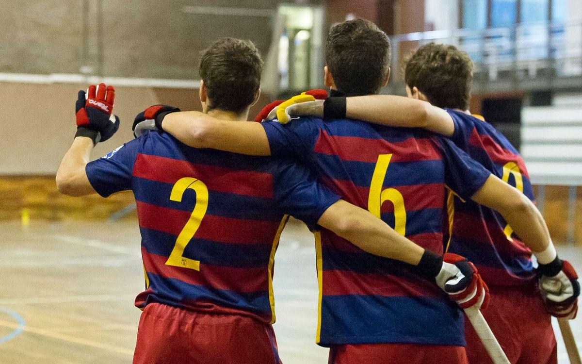 El Barça B golea al Palafrugell en Mundet y es segundo en solitario (9-3)