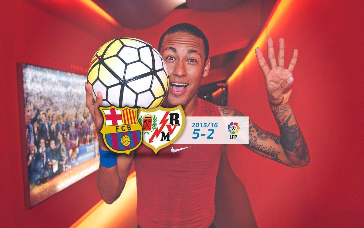 FC Barcelona: 5 - Rayo Vallecano: 2