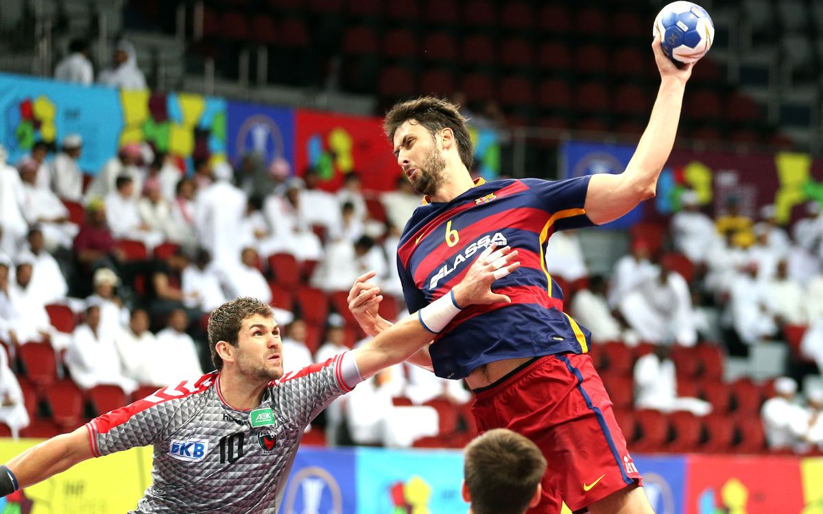 El Barça Lassa d'handbol vol acabar la Super Globe amb un triomf