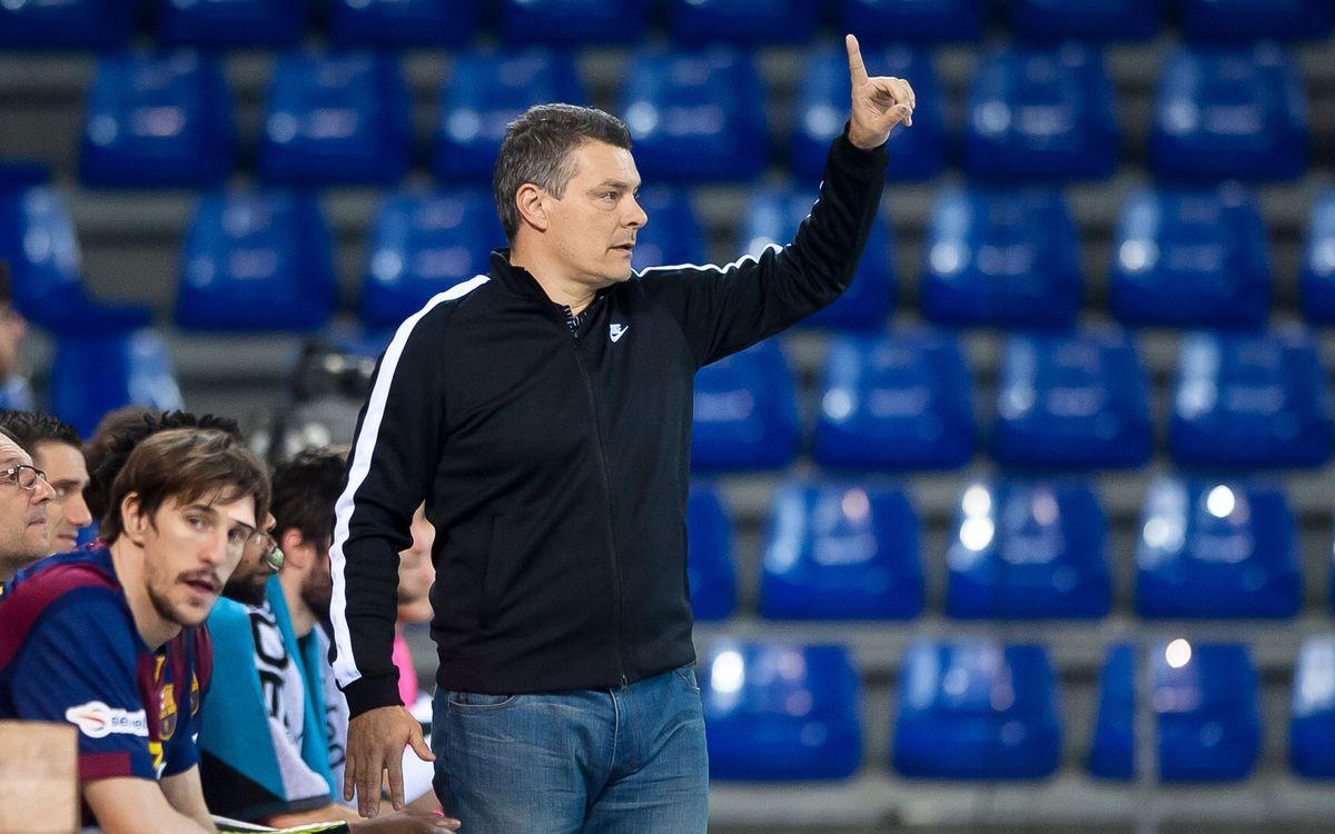 """Xavi Pascual, entrenador del FC Barcelona Lassa: """"Hem d'estar bé a llarg termini"""""""