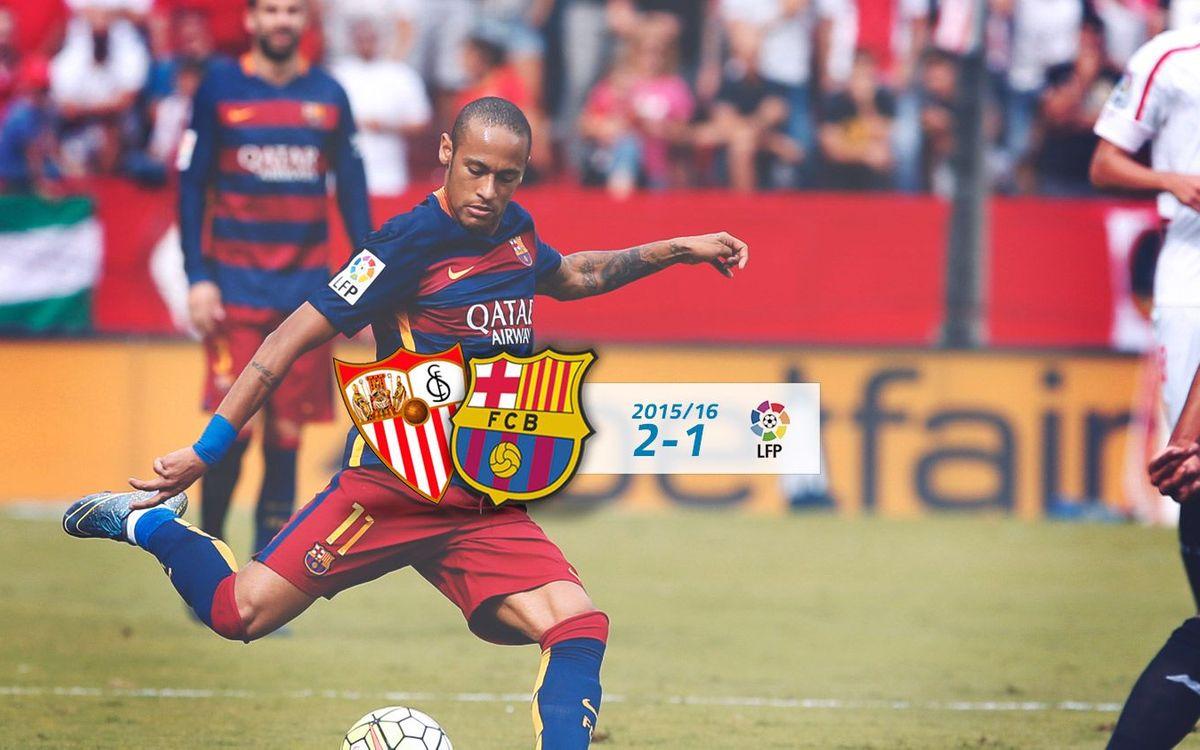 Sevilla: 2 - FC Barcelona: 1