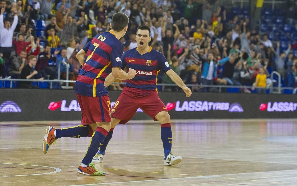 FC Barcelona Lassa – Santiago Futsal: Come from behind win at the Palau (4-2)