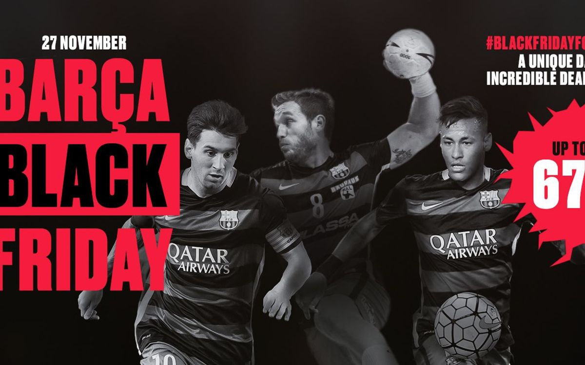 Special FC Barcelona offers for Black Friday
